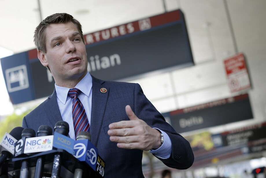 Rep. Eric Swalwell (pictured) and rival state Sen. Ellen Corbett are among the fellow Democrats who are engaged in a bitter fight in the era of the top-two primary system. Photo: Marcio Jose Sanchez, Associated Press