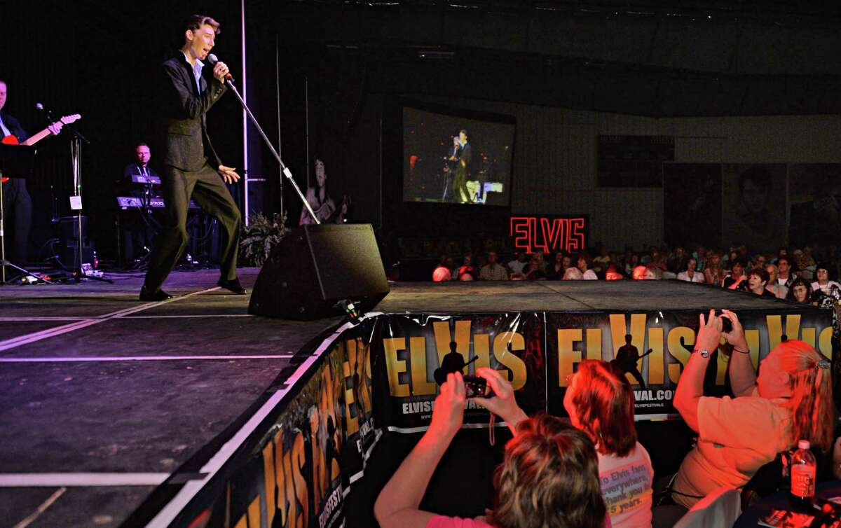 An Elvis tribute artist competition at the Lake George Forum Friday May 30, 2014, in Lake George, NY. The convention center venue will soon be converted into a large-scale boat showroom after being acquired by Boats by George. (John Carl D'Annibale / Times Union)