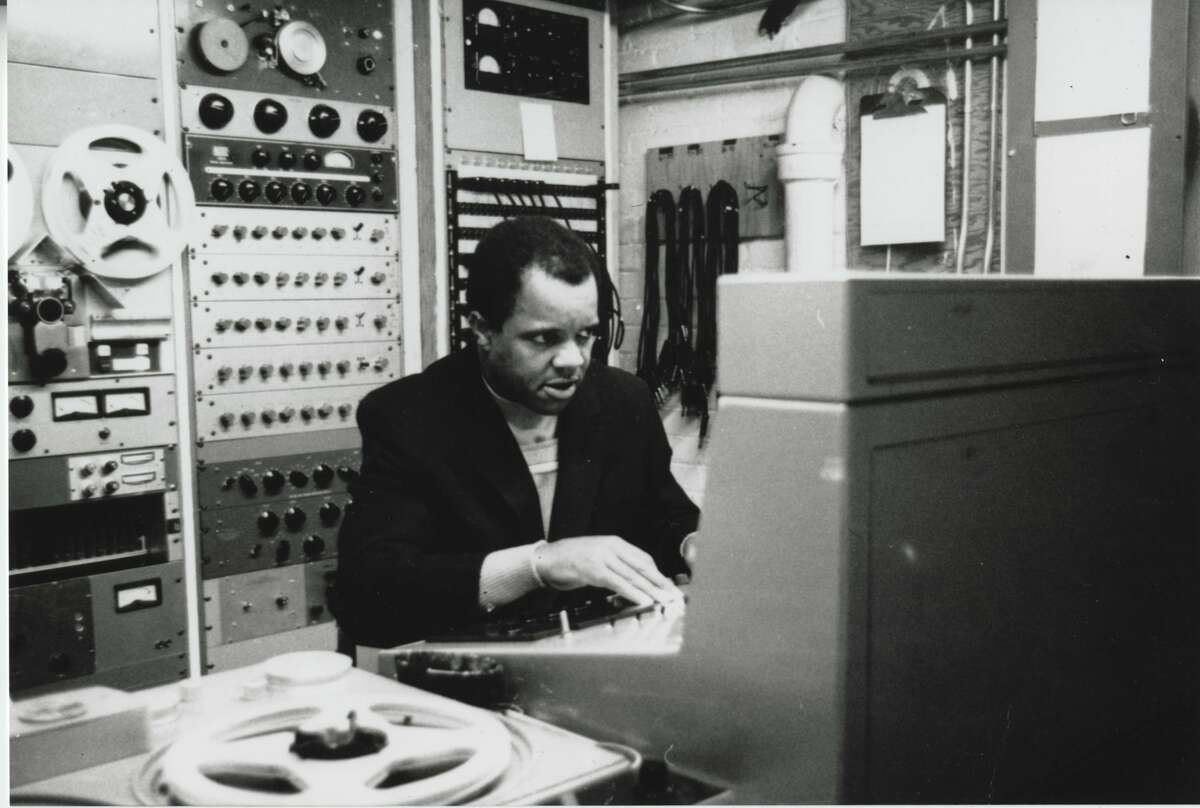 Berry Gordy in the control room.