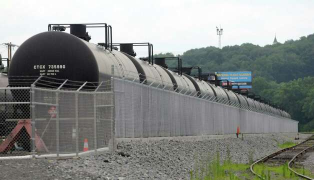A view of oil tanker cars at the  Port of Albany on Monday, July 8, 2013 in Albany, NY.  The tankers are used to transport oil from the North Dakota Bakken oilfields.  (Paul Buckowski / Times Union) Photo: Paul Buckowski / 00023088A