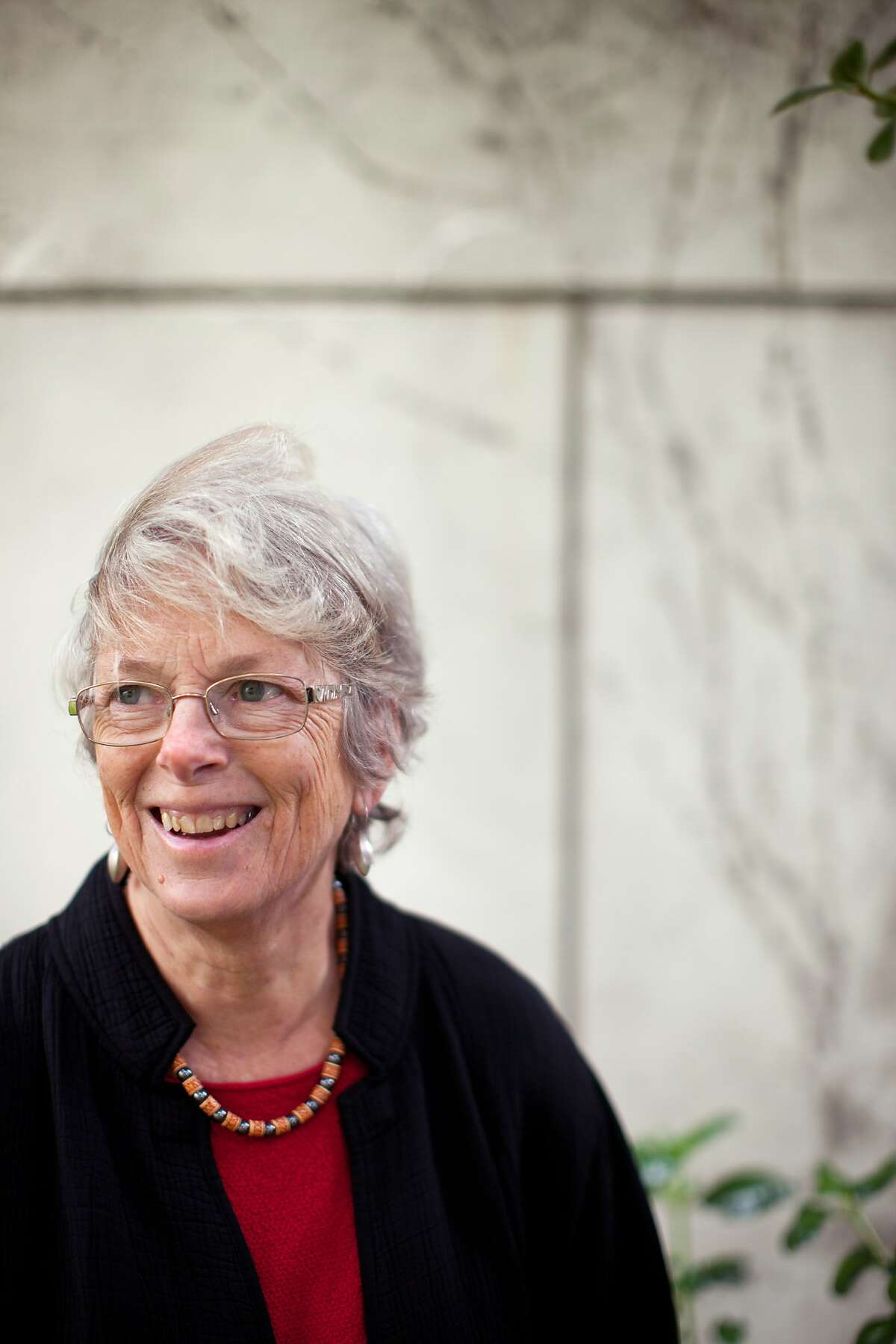 UC Berkeley law professor Pamela Samuelson is a founding member of the Authors Alliance, a new nonprofit advocacy group for authors pushing for copyright reform and better public access to published works. She is photographed outside her apartment in San Francisco on Friday, May 23. 2014.