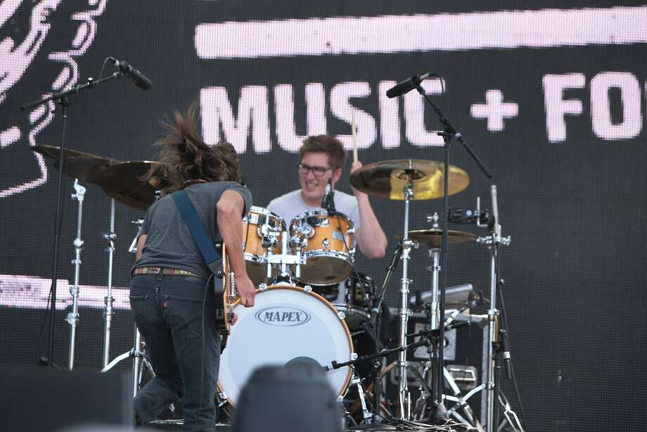Trevor Terndrup, left, and Tyler Ritter of Moon Taxi perform at the 2014 Bottlerock Napa Valley music, food and wine festival on Friday, May 30, 2014 in Napa, Calif. Photo: Kevin N. Hume, The Chronicle