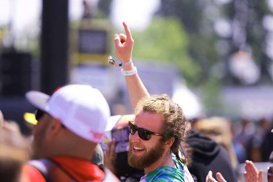 A fan smiles during Moon Taxi's performance at the 2014 Bottlerock Napa Valley music, food and wine festival on Friday, May 30, 2014 in Napa, Calif. Photo: Kevin N. Hume, The Chronicle