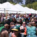 Crowds beat the heat at the Whole Foods Garden at the 2014 Bottlerock Napa Valley music, food and wine festival on Friday, May 30, 2014 in Napa, Calif.