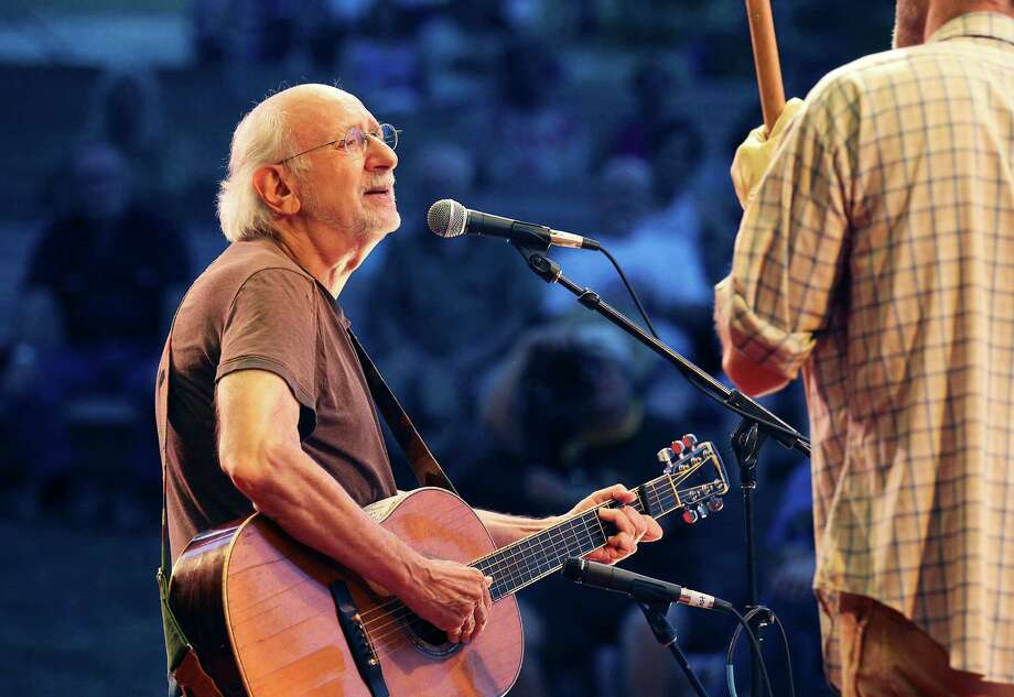 Peter Yarrow of famed 1960's folk trio Peter, Paul and Mary performs at the Kerrville Folk Festival on Friday, May 30, 2014. Yarrow helped co-found the festival with Rod Kennedy who passed away in April. Yarrow remembered his friend Kennedy throughout the evening's performance. Photo: Kin Man Hui, San Antonio Express-News / ©2014 San Antonio Express-News