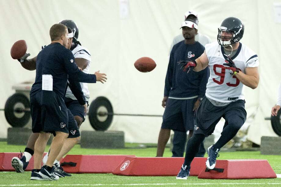 The Texans are counting on defensive end Jared Crick (93) to capably fill the void left when Antonio Smith opted for free agency. Photo: Brett Coomer, Staff / © 2014 Houston Chronicle