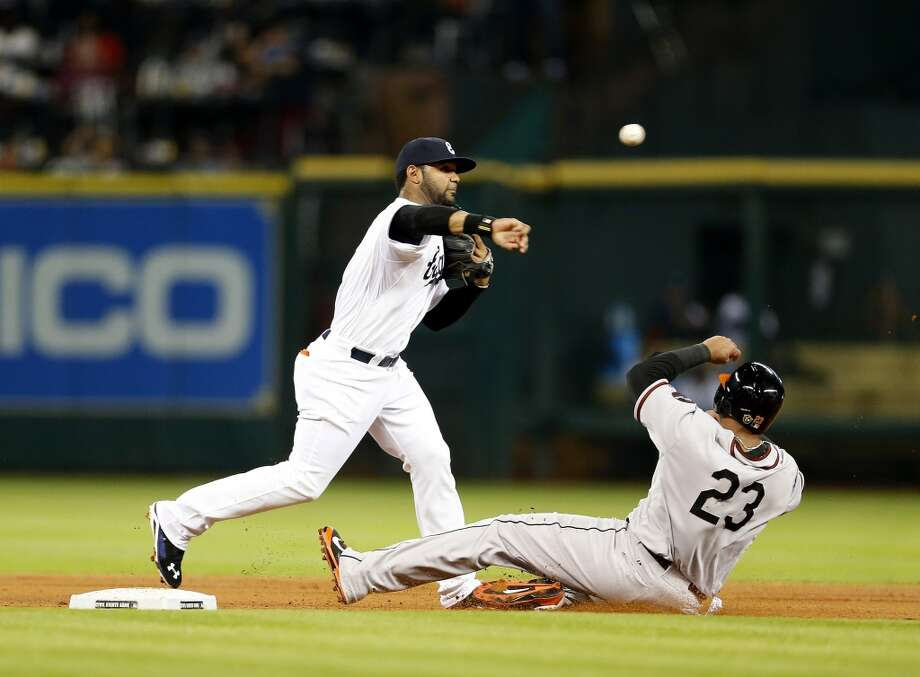 May 30: Astros 2, Orioles 1When he wasn't busy turning double plays on defense, shortstop Jonathan Villar, left, was driving in the go-ahead run to snap out of a slump and help the Astros win their seventh straight.  Record: 24-32. Photo: Karen Warren, Houston Chronicle