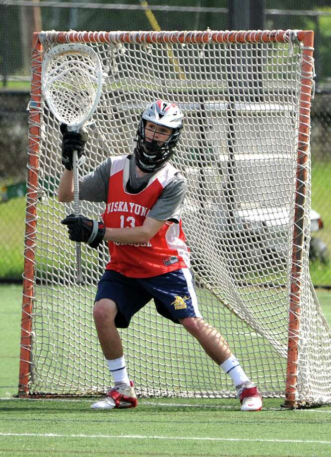 Niskayuna junior goalie Nick Testa guards the net during lacrosse practice at Union College on Friday, May 30, 2014 in Schenectady, N.Y. (Lori Van Buren / Times Union) Photo: Lori Van Buren / 00027098A