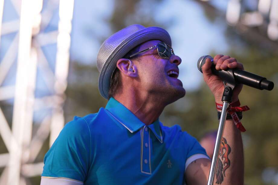 Gin Blossoms' lead singer Robin Wilson performs at the 2014 Bottlerock Napa Valley music, food and wine festival on Friday, May 30, 2014 in Napa, Calif. Photo: Kevin N. Hume, The Chronicle
