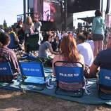 Many people brought chairs to sit in at the 2014 Bottlerock Napa Valley music, food and wine festival on Friday, May 30, 2014 in Napa, Calif.