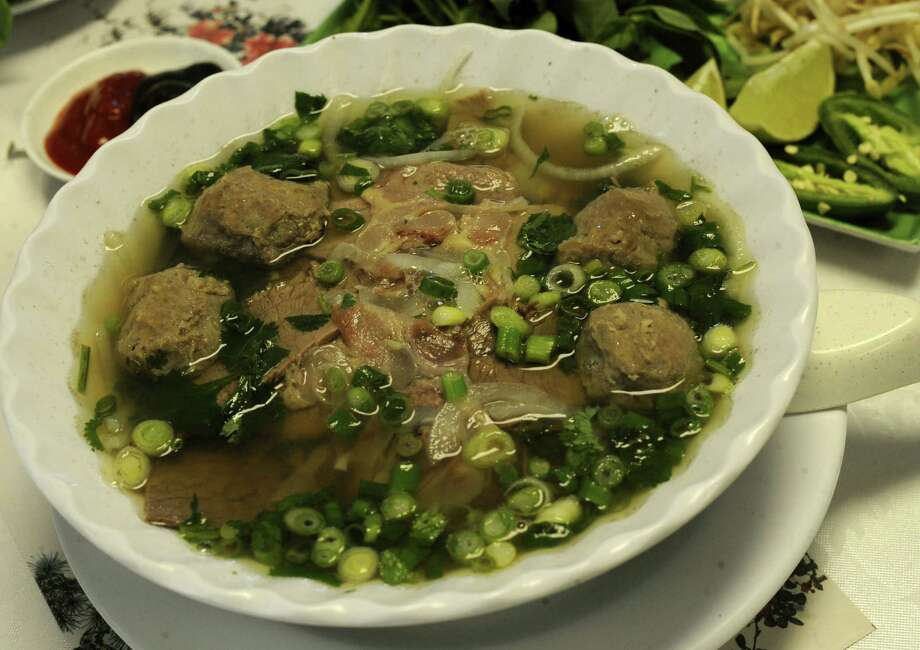 The Pho at Saigon Express is made with beef and 11 different herbs and spices and contains only a small amount of MSG. Photo: San Antonio Express-News / File Photo / SAN ANTONIO EXPRESS-NEWS