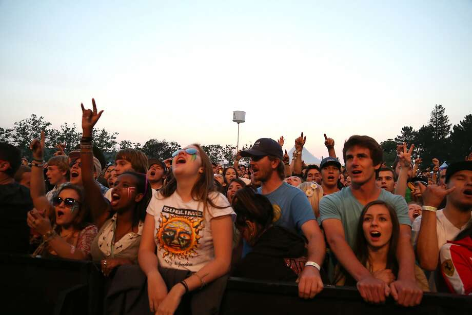 Fans cheer wildly as Sublime with Rome takes the stage at the 2014 Bottlerock Napa Valley music, food and wine festival on Friday, May 30, 2014 in Napa, Calif. Photo: Kevin N. Hume, The Chronicle