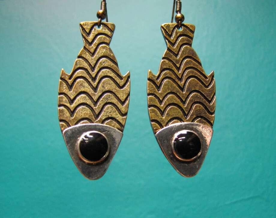 Fish earrings, $12.95, YaYa Club, Beaumont