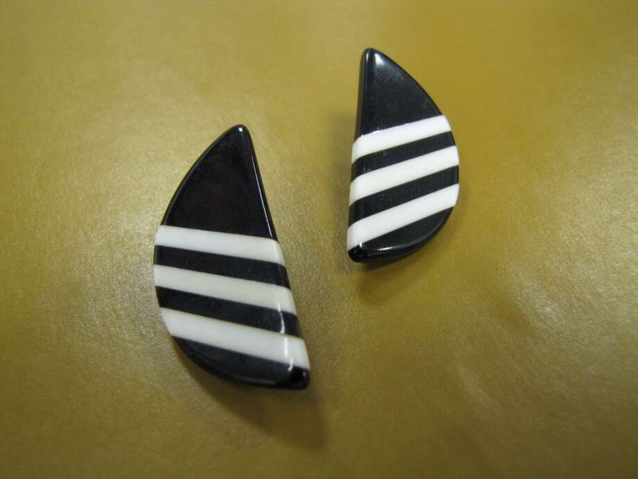Vintage black and white earrings, $8.99, NV Boutique, Beaumont