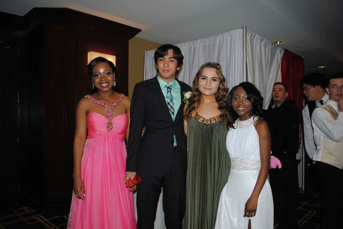 Seniors from Westhill High School in Stamford celebrated prom night with a
