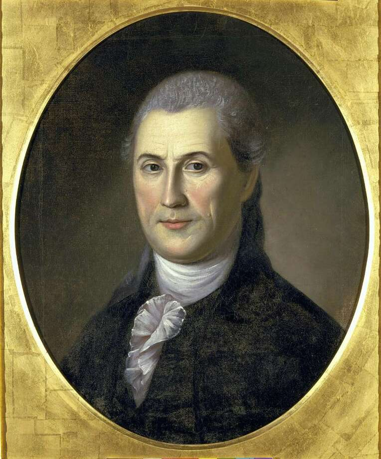 photo courtesy of Samuel Huntington Historical Trust This portrait was painted in 1783 by Charles Wilson Peale, when Samuel Huntington was 52. It's the only known portrait of Samuel Huntington. It hangs in the Charles Wilson Peale Gallery in Philadelphia.  Samuel Huntington, it can be argued, was this first president of the United States. This is because Huntington was president of the Continental Congress when the Articles of Confederation were ratified on March 1, 1781, the document that created the new nation –– officially known at the time as the United States of Congress Assembled. Photo: Contributed Photo / Connecticut Post Contributed