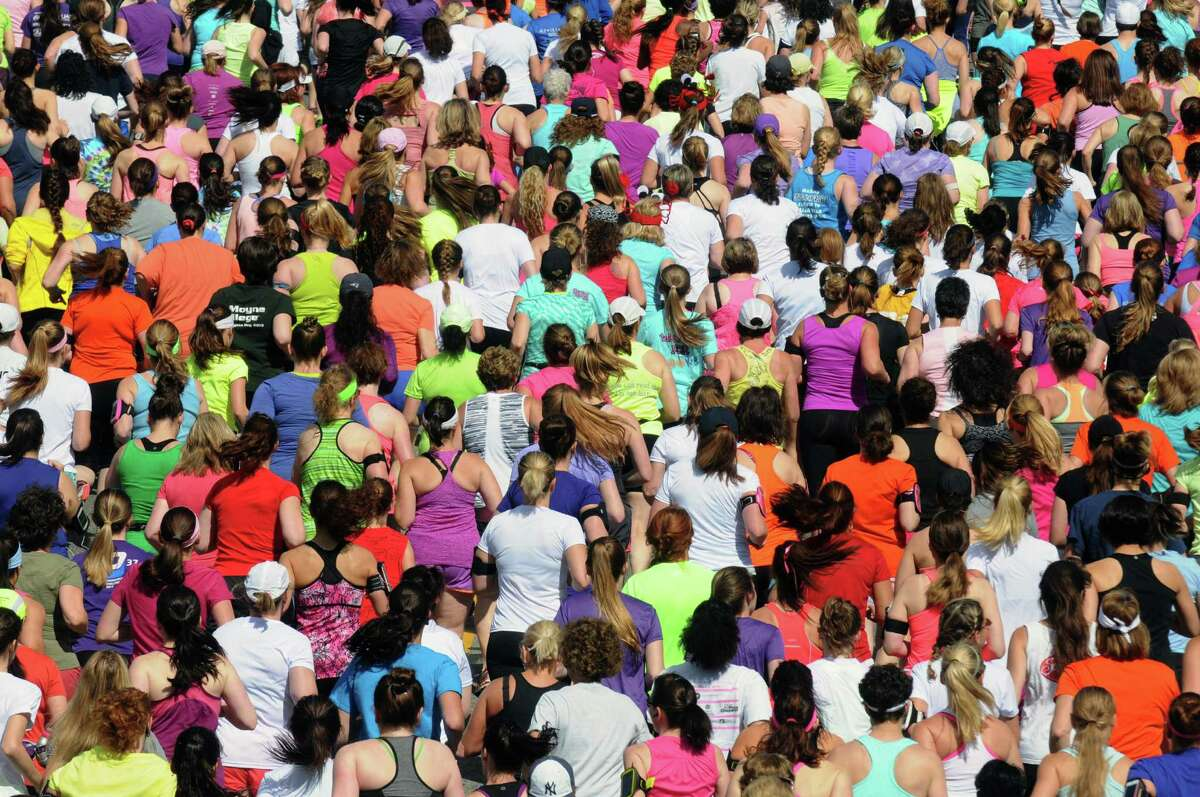 Runners break from the starting line during the Freihofer's 36th Run for Women on Saturday May 31, 2014 in Albany, N.Y. (Michael P. Farrell/Times Union)