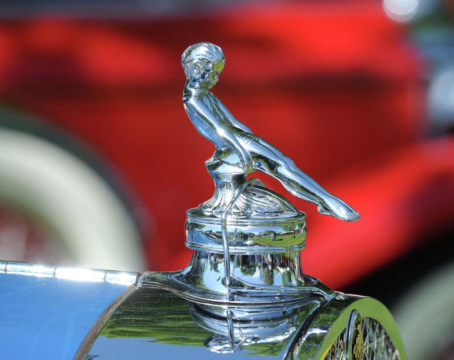 The hood ornament on a 1929 Packard Runabout during the Greenwich Concours d'Elegance at Roger Sherman Baldwin Park in Greenwich, Saturday, May 31, 2014. Photo: Bob Luckey / Greenwich Time