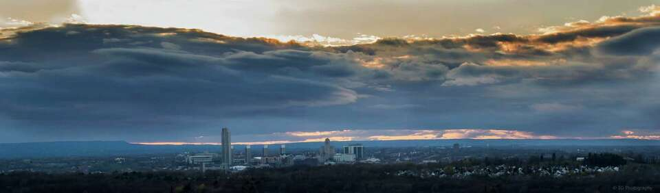Elliott Ambrosio took this skyline of Albany from East Greenbush in late April. See more of his work