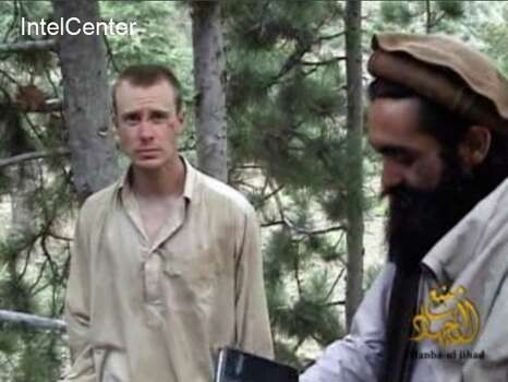 "This still image provided on December 7, 2010 by IntelCenter shows the Taliban associated video production group Manba al-Jihad December 7, 2010 release of US Sergeant Bowe Bergdahl (L), who has been held hostage by the Taliban since his disappearance from his unit on June 30, 2009. Also with him in this clip appears to be Taliban commander Maulawi Sangin (R). US President Barack Obama said on May 31, 2014, that Bergdahl held for half a decade in Afghanistan has been freed. ""Today the American people are pleased that we will be able to welcome home Sergeant Bowe Bergdahl, held captive for nearly five years,"" said Obama, announcing the release of Bergdahl.        == RESTRICTED TO EDITORIAL USE / MANDATORY CREDIT: ""AFP PHOTO HANDOUT-INTELCENTER""/ NO MARKETING - NO ADVERTISING CAMPAIGNS  NO A LA CARTE SALES / DISTRIBUTED AS A SERVICE TO CLIENTS = NO OBSCURING OR CROPPING OUT INTELCENTER LOGO NOT PERMITTED ==-/AFP/Getty Images Photo: -, AFP/Getty Images / AFP"