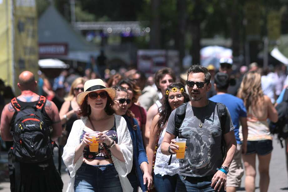 Many varieties of beer were also available for concert goers at the 2014 Bottlerock Napa Valley music, food and wine festival on Saturday, May 31, 2014 in Napa, Calif. Photo: Kevin N. Hume, The Chronicle