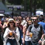 Many varieties of beer were also available for concert goers at the 2014 Bottlerock Napa Valley music, food and wine festival on Saturday, May 31, 2014 in Napa, Calif.