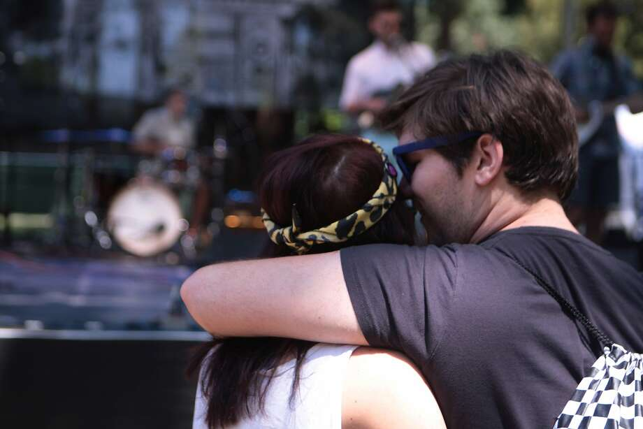 A couple gets close during Trebuchet's performance at the 2014 Bottlerock Napa Valley music, food and wine festival on Saturday, May 31, 2014 in Napa, Calif. Photo: Kevin N. Hume, The Chronicle
