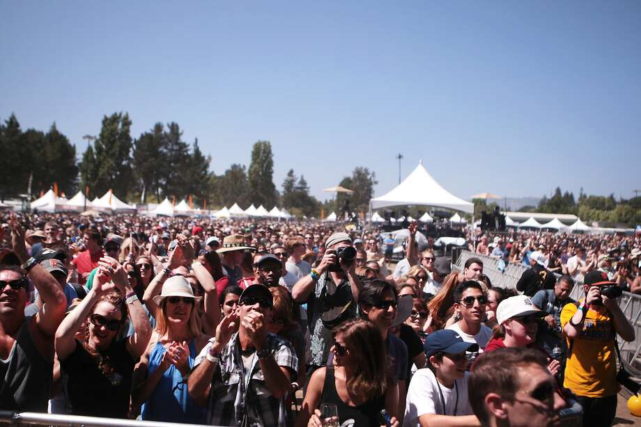 A large crowd gathered to watch Matt and Kim's performance at the 2014 Bottlerock Napa Valley music, food and wine festival on Saturday, May 31, 2014 in Napa, Calif. Photo: Kevin N. Hume, The Chronicle
