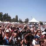A large crowd gathered to watch Matt and Kim's performance at the 2014 Bottlerock Napa Valley music, food and wine festival on Saturday, May 31, 2014 in Napa, Calif.