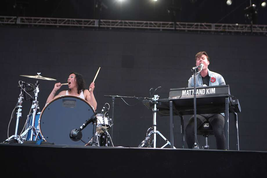 Matt and Kim perform at the 2014 Bottlerock Napa Valley music, food and wine festival on Saturday, May 31, 2014 in Napa, Calif. Photo: Kevin N. Hume, The Chronicle