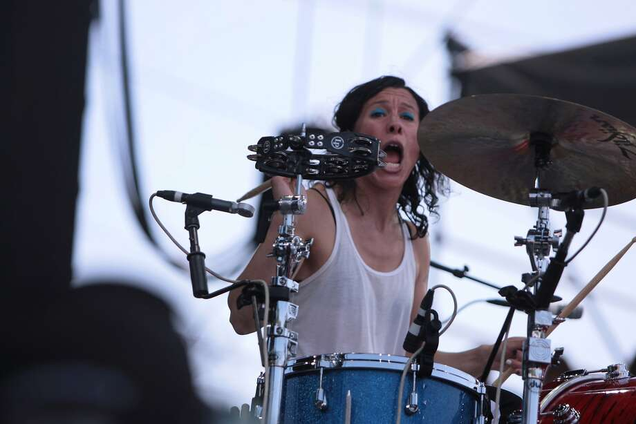 Kim Schifino of Matt and Kim performs at the 2014 Bottlerock Napa Valley music, food and wine festival on Saturday, May 31, 2014 in Napa, Calif. Photo: Kevin N. Hume, The Chronicle