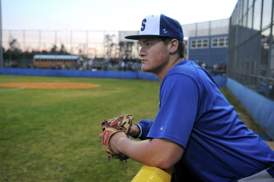 Shepherd senior pitcher Tyler Kolek relaxes before his team's scrimmage against Kountze at Shepherd High School on Friday. Photo: Jerry Baker, Freelance / Freelance