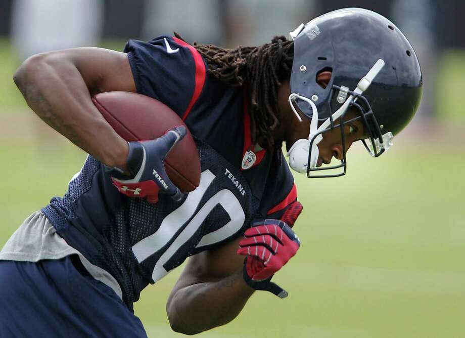 Texans wide receiver DeAndre Hopkins finished his first season ranked second in the NFL in rookie receiving yards with 802 while starting all 16 games. Photo: James Nielsen, Staff / © 2014  Houston Chronicle