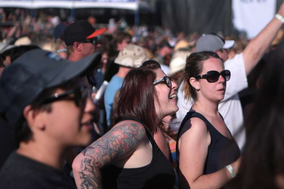 Fans dance during Weezer's performance at the 2014 Bottlerock Napa Valley music, food and wine festival on Saturday, May 31, 2014 in Napa, Calif. Photo: Kevin N. Hume, The Chronicle