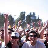 Frans hold up their hands during Third Eye Blind's set at the 2014 Bottlerock Napa Valley music, food and wine festival on Saturday, May 31, 2014 in Napa, Calif.
