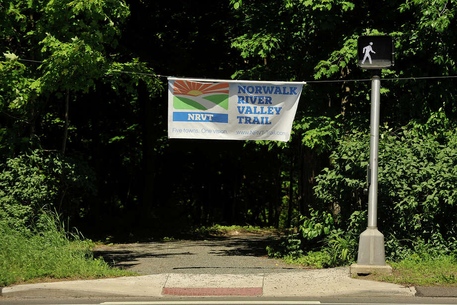 The entrance to the Norwalk River Valley Trail is seen near the intersection of Wolfpit Road and Danbury Road in Wilton, Conn., on Thursday, May 29, 2014. Photo: Jason Rearick / Stamford Advocate