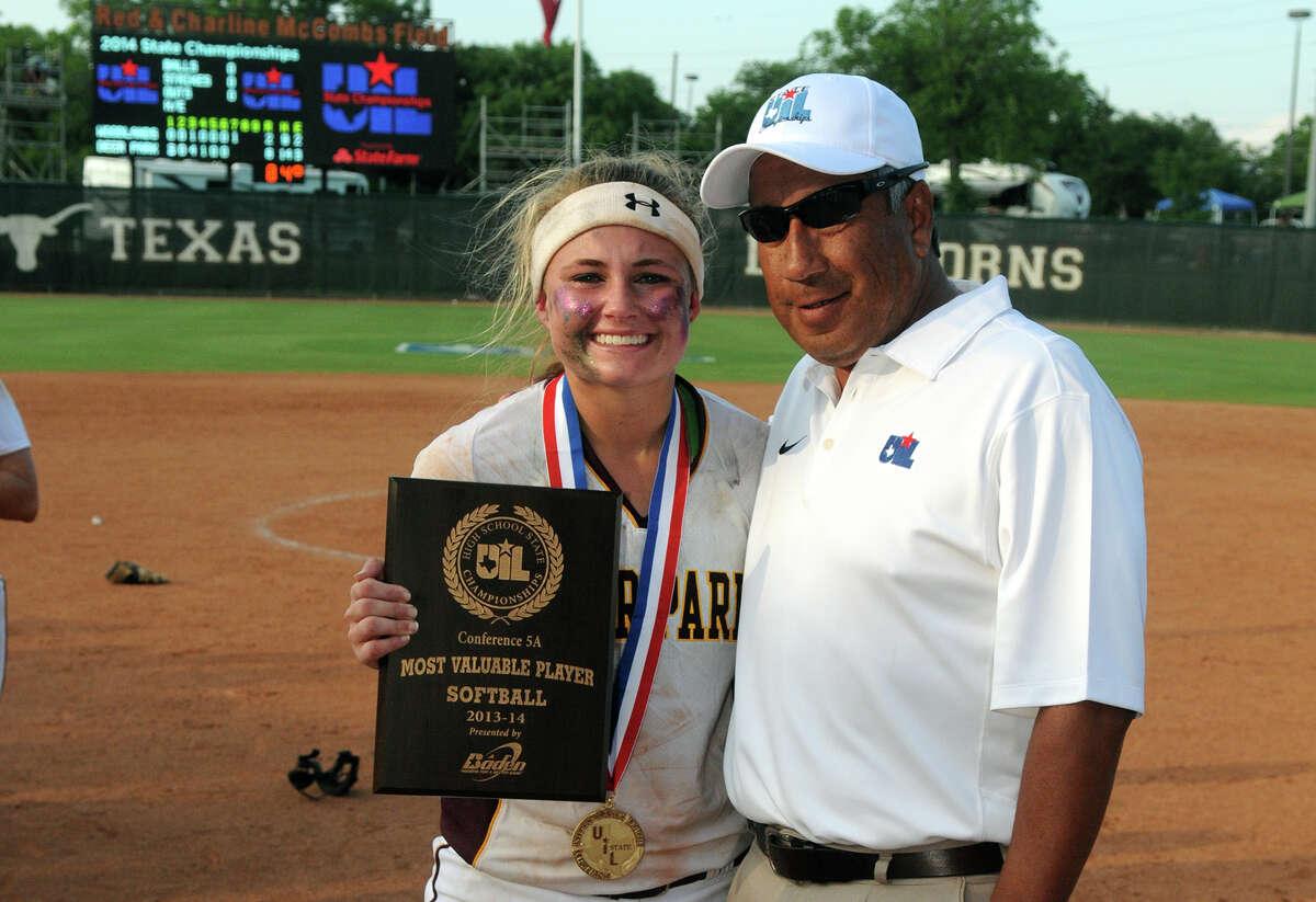 Deer Park sophomore Payton McBride holds her MVP award.