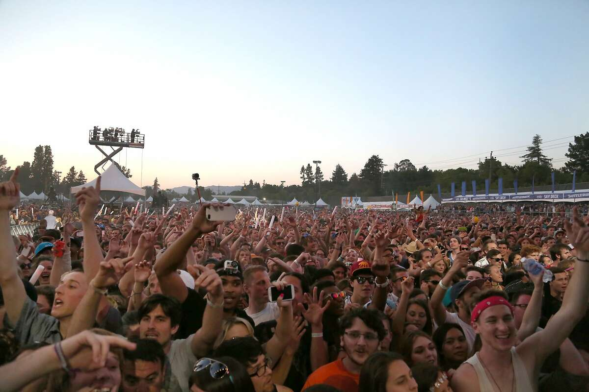 The crowd goes wild during Outkast's close-out performance at the 2014 Bottlerock Napa Valley music, food and wine festival on Saturday, May 31, 2014 in Napa, Calif.