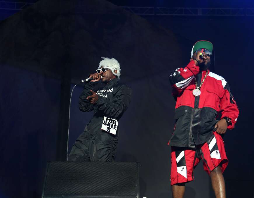 """Andre """"Andre 3000"""" Benjamin and Antwan """"Big Boi"""" Patton of hip-hop duo Outkast perform at the 2014 Bottlerock Napa Valley music, food and wine festival on Saturday, May 31, 2014 in Napa, Calif. Photo: Kevin N. Hume, The Chronicle"""