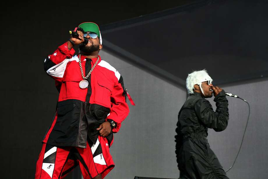 """Antwan """"Big Boi"""" Patton and Andre """"Andre 3000"""" Benjamin of Outkast perform at the 2014 Bottlerock Napa Valley music, food and wine festival on Saturday, May 31, 2014 in Napa, Calif. Photo: Kevin N. Hume, The Chronicle"""