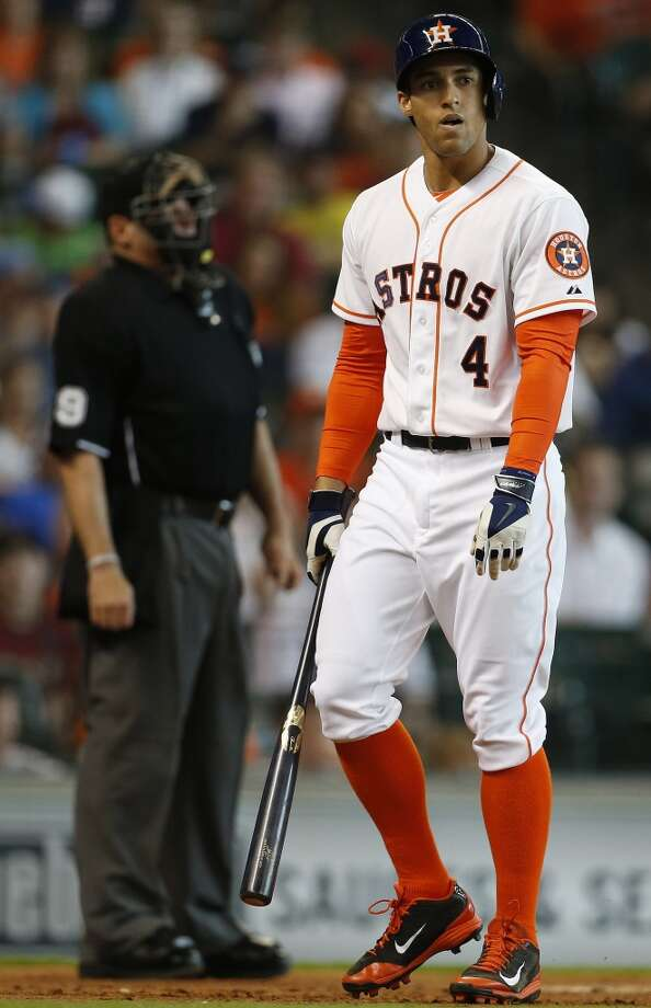 May 31: Orioles 4, Astros 1George Springer and the rest of the offense couldn't muster up enough runs to help the Astros win an eighth straight game.  Record: 24-33. Photo: Karen Warren, Houston Chronicle