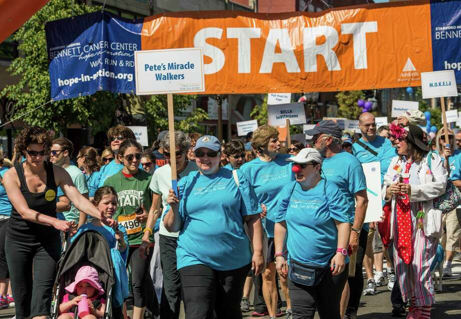 "The start of the 19th annual ""Hope in Motion"" walk and run held at Columbus Park, Stamford, CT on Sunday, June, 1st, 2014. Photo: Mark Conrad / Connecticut Post Freelance"