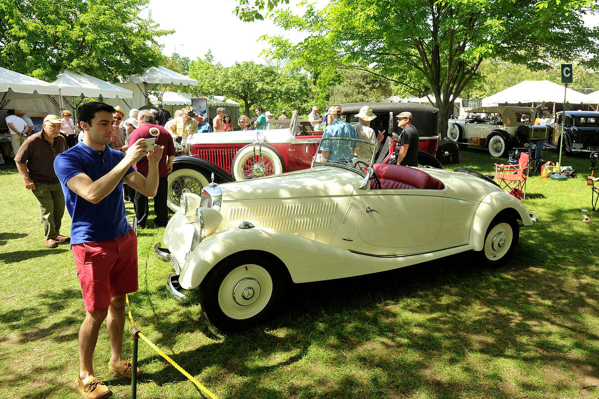 Scenes from the Greenwich Concours d'Elegance at Roger Sherman Baldwin Park in Greenwich, Conn., on Sunday, June 1, 2014.
