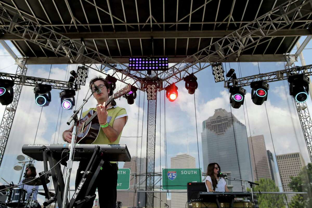 The appropriately named band Washed Out performed Sunday on the Neptune stage.