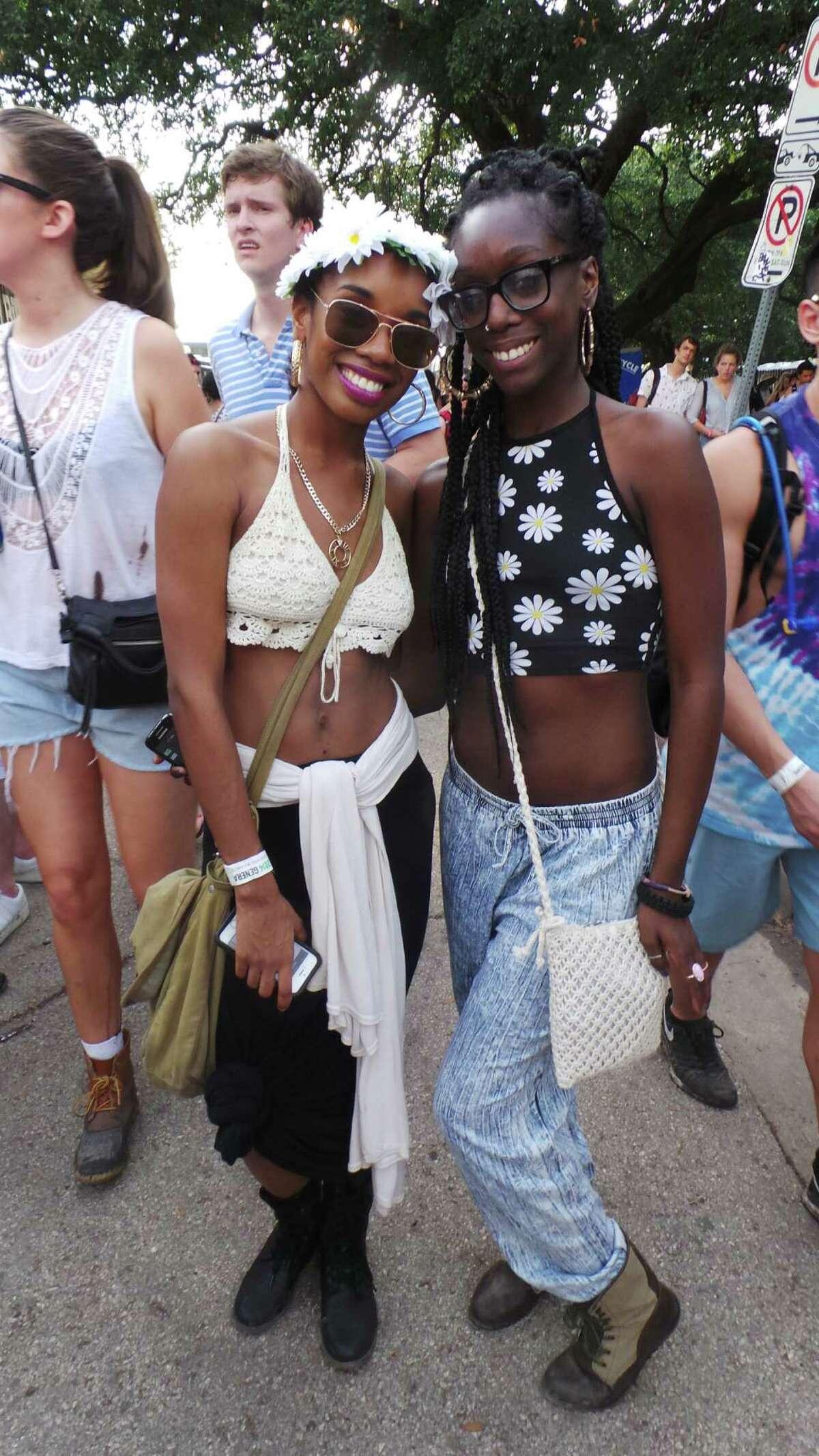 Chenzirah Hemphill and Jasmine Riggs at Free Press Summer Festival 2014 on Saturday, May 31.