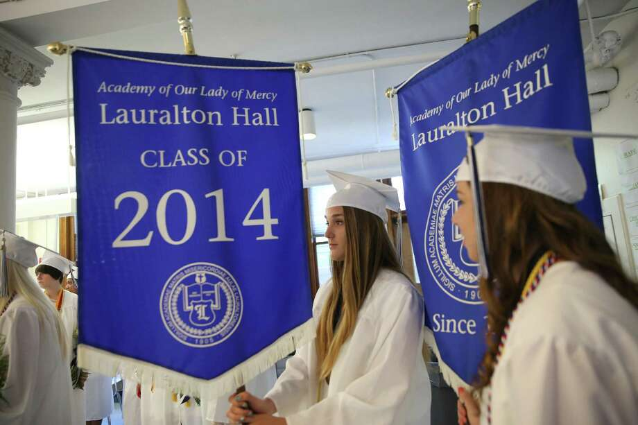 Lauralton Hall Commencement Exercises at Lauralton Hall in Milford CT on Sunday, June 1, 2014. Photo: Mike Ross / Mike Ross Connecticut Post freelance - @www.mikerossphoto.com