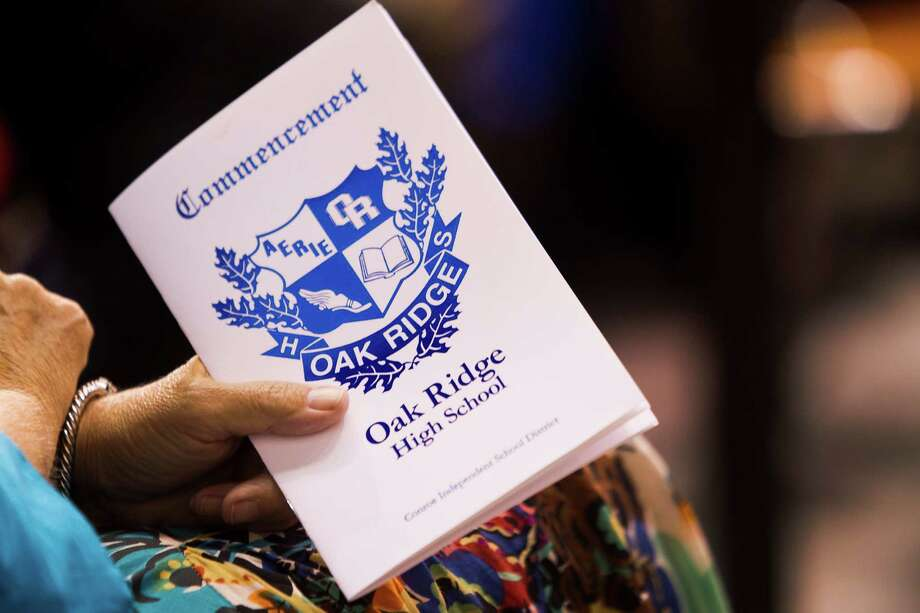 The Oak Ridge High School commencement program is held during ceremonies at Sam Houston State University Saturday, May 31, 2014, in Huntsville. Photo: Brett Coomer, Houston Chronicle / © 2014 Houston Chronicle