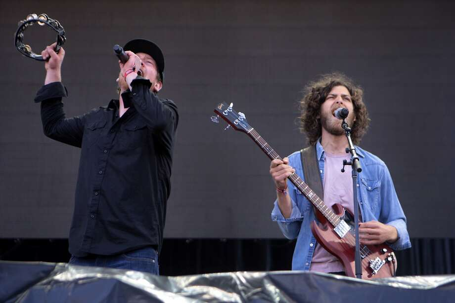 Shannon Koehler, left, and Aaron Mort of San Francisco's The Stone Foxes perform at the 2014 Bottlerock Napa Valley music, food and wine festival on Sunday, June 1, 2014 in Napa, Calif. Photo: Kevin N. Hume, The Chronicle