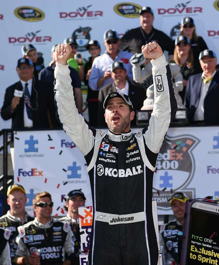 Jimmie Johnson followed up his Coca-Cola 600 win with a victory at Dover. Photo: Molly Riley, Associated Press