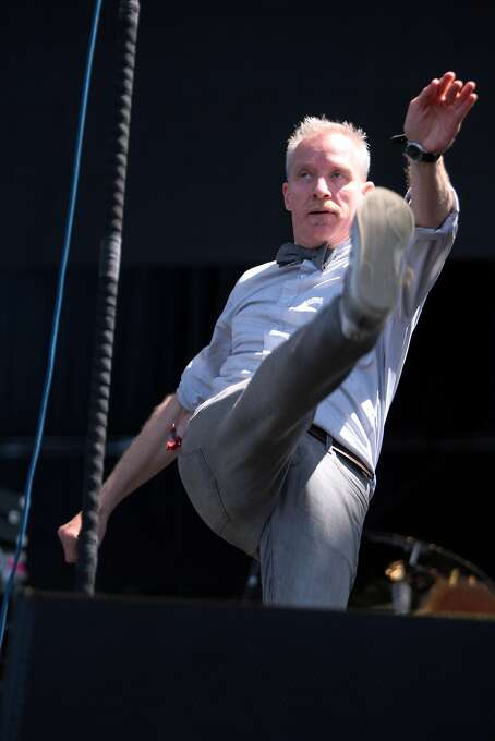 Chris Barron of the Spin Doctors kicks it up during the band's performance at the 2014 Bottlerock Napa Valley music, food and wine festival on Sunday, June 1, 2014 in Napa, Calif. Photo: Kevin N. Hume, The Chronicle